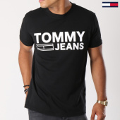 /achat-t-shirts/tommy-hilfiger-jeans-tee-shirt-essential-logo-4528-noir-blanc-147519.html