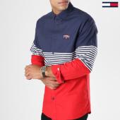 /achat-chemises-manches-longues/tommy-hilfiger-jeans-chemise-manches-longues-color-block-4981-bleu-marine-rouge-blanc-147520.html