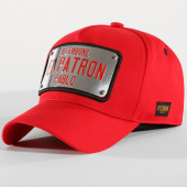 /achat-casquettes-de-baseball/hechbone-casquette-plaque-el-patron-rouge-chrome-147595.html