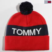 /achat-bonnets/tommy-hilfiger-jeans-bonnet-rugby-stripe-3974-rouge-bleu-marine-147541.html