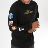 /achat-t-shirts-manches-longues/huf-tee-shirt-manches-longues-club-crest-noir-dore-147761.html