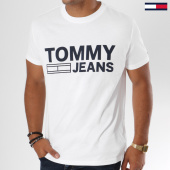 /achat-t-shirts/tommy-hilfiger-jeans-tee-shirt-essential-logo-4528-blanc-147790.html