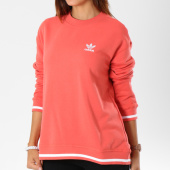 /achat-sweats-col-rond-crewneck/adidas-sweat-crewneck-femme-active-icons-dh2976-corail-147847.html
