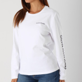 /achat-t-shirts-manches-longues/calvin-klein-tee-shirt-femme-institutional-relax-8599-blanc-147903.html