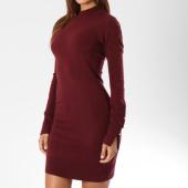 /achat-robes/kaporal-robe-manches-longues-femme-cybil-bordeaux-147932.html