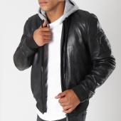 /achat-vestes-cuir/redskins-veste-cuir-poche-bomber-sellers-casting-noir-147877.html