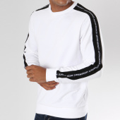/achat-sweats-col-rond-crewneck/antony-morato-sweat-crewneck-avec-bandes-mmfl00423-blanc-148012.html