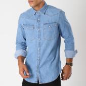 /achat-chemises-manches-longues/g-star-chemise-manches-longues-jean-3301-d10140-d013-bleu-denim-147962.html