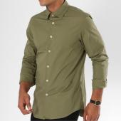 /achat-chemises-manches-longues/g-star-chemise-manches-longues-core-d03691-7085-vert-kaki-148059.html
