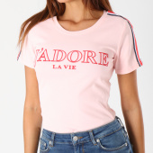 /achat-t-shirts/girls-only-tee-shirt-femme-avec-bandes-1850-rose-148113.html