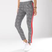 /achat-pantalons-carreaux/girls-only-pantalon-cigarette-a-carreaux-avec-bandes-femme-1843-noir-blanc-148124.html