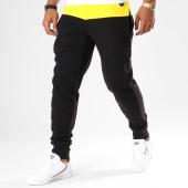 /achat-pantalons-joggings/hechbone-pantalon-jogging-avec-bandes-gat-noir-jaune-148126.html