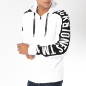 /achat-sweats-zippes-capuche/jack-and-jones-sweat-zippe-capuche-avec-bandes-charlie-blanc-148229.html