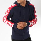 /achat-sweats-zippes-capuche/jack-and-jones-sweat-zippe-capuche-avec-bandes-charlie-bleu-marine-148230.html