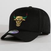 /achat-casquettes-de-baseball/mitchell-and-ness-casquette-luxe-110-chicago-bulls-noir-dore-148212.html