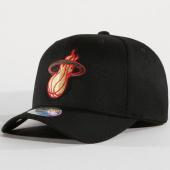 /achat-casquettes-de-baseball/mitchell-and-ness-casquette-luxe-110-miami-heat-noir-dore-148214.html