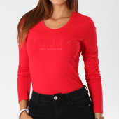/achat-t-shirts-manches-longues/guess-tee-shirt-manches-longues-femme-w84i99k7wc0-rouge-148264.html