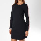 /achat-robes/only-robe-manches-longues-femme-avec-bandes-brilliant-sana-bleu-marine-148276.html