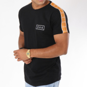 /achat-t-shirts-longs-oversize/304-clothing-tee-shirt-oversize-bande-brodee-franco-noir-camel-148458.html