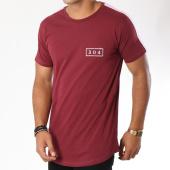 /achat-t-shirts-longs-oversize/304-clothing-tee-shirt-oversize-bande-brodee-franco-bordeaux-rose-148476.html