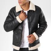 /achat-vestes/blend-veste-col-fourrure-80707199-noir-beige-148426.html