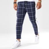 /achat-pantalons-carreaux/frilivin-pantalon-a-carreaux-avec-bandes-1379-bleu-marine-148354.html