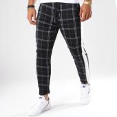 /achat-pantalons-carreaux/frilivin-pantalon-a-carreaux-avec-bandes-1379-noir-148355.html