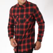 /achat-chemises-manches-longues/frilivin-chemise-manches-longues-a-carreaux-ap1208-noir-rouge-148369.html
