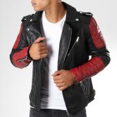 /achat-vestes-biker/frilivin-veste-biker-qq512-noir-rouge-148382.html