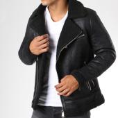 /achat-vestes/frilivin-veste-biker-col-mouton-qq510-noir-148387.html