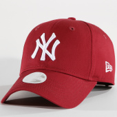 New Era - Casquette Femme League Essential 940 MLB New York Yankees Bordeaux f3a412e7de