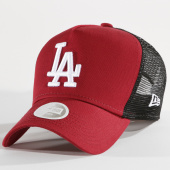 /achat-trucker/new-era-casquette-trucker-femme-league-essential-mlb-los-angeles-dodgers-bordeaux-noir-148375.html