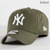 New Era - Casquette Enfant League Essential 940 MLB New York Yankees  80635914 Vert Kaki 149fc77859