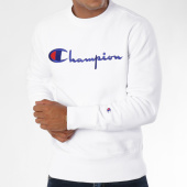 /achat-sweats-col-rond-crewneck/champion-sweat-crewneck-212576-blanc-148555.html