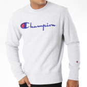 /achat-sweats-col-rond-crewneck/champion-sweat-crewneck-212576-gris-chine-148600.html