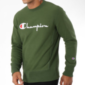 /achat-sweats-col-rond-crewneck/champion-sweat-crewneck-212576-vert-kaki-148622.html