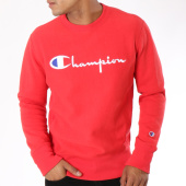 /achat-sweats-col-rond-crewneck/champion-sweat-crewneck-212576-rouge-148623.html