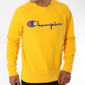 /achat-sweats-col-rond-crewneck/champion-sweat-crewneck-212576-jaune-148624.html