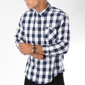 /achat-chemises-manches-longues/edc-by-esprit-chemise-manches-longues-088cc2f005-blanc-carreaux-bleu-marine-148598.html