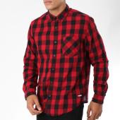 /achat-chemises-manches-longues/edc-by-esprit-chemise-manches-longues-088cc2f005-rouge-carreaux-noir-148599.html