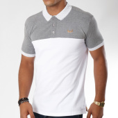 /achat-polos-manches-courtes/kaporal-polo-manches-courtes-shopy-blanc-gris-chine-148493.html