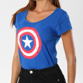 /achat-t-shirts/marvel-tee-shirt-femme-captain-america-shield-bleu-roi-148636.html