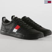 /achat-baskets-basses/tommy-hilfiger-baskets-flag-detail-leather-fm0fm01712-black-148776.html