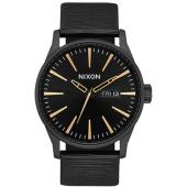 /achat-montres/nixon-montre-sentry-leather-a105-2987-noir-dore-148871.html