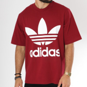 /achat-t-shirts-longs-oversize/adidas-tee-shirt-oversize-trefoil-dh5841-bordeaux-149014.html