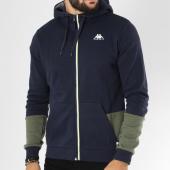 /achat-sweats-zippes-capuche/kappa-sweat-zippe-capuche-logo-ugo-bleu-marine-vert-kaki-149070.html