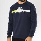 /achat-sweats-col-rond-crewneck/kappa-sweat-crewneck-logo-amos-303hsq0-bleu-marine-149078.html