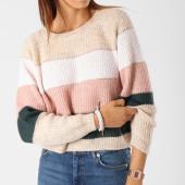 /achat-pulls/only-pull-femme-malone-stripe-beige-rose-vert-148909.html