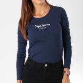 https://www.laboutiqueofficielle.com/achat-t-shirts-manches-longues/pepe-jeans-tee-shirt-manches-longues-femme-new-virginia-bleu-marine-149093.html