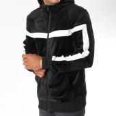 /achat-sweats-zippes-capuche/terance-kole-sweat-zippe-capuche-velours-avec-bandes-98166-noir-149230.html
